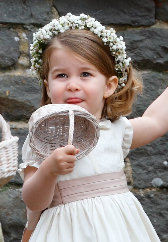 Only Princess Charlotte could stick out her tongue and still look this cute.