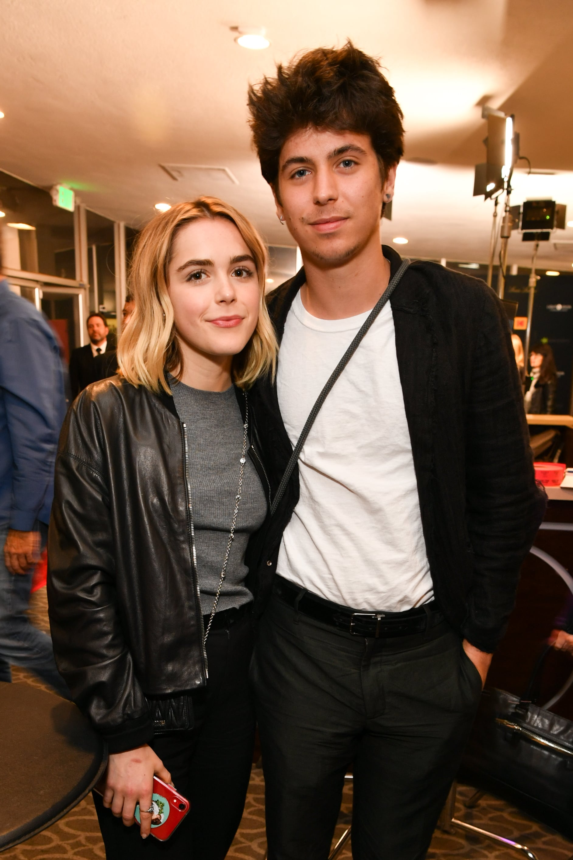 LOS ANGELES, CALIFORNIA - APRIL 09: Kiernan Shipka and Charlie Oldman attend the Zeitgeist Films and Kino Lorber present Los Angeles Premiere of