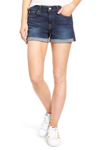 7 For All Mankind Cuffed Denim Shorts