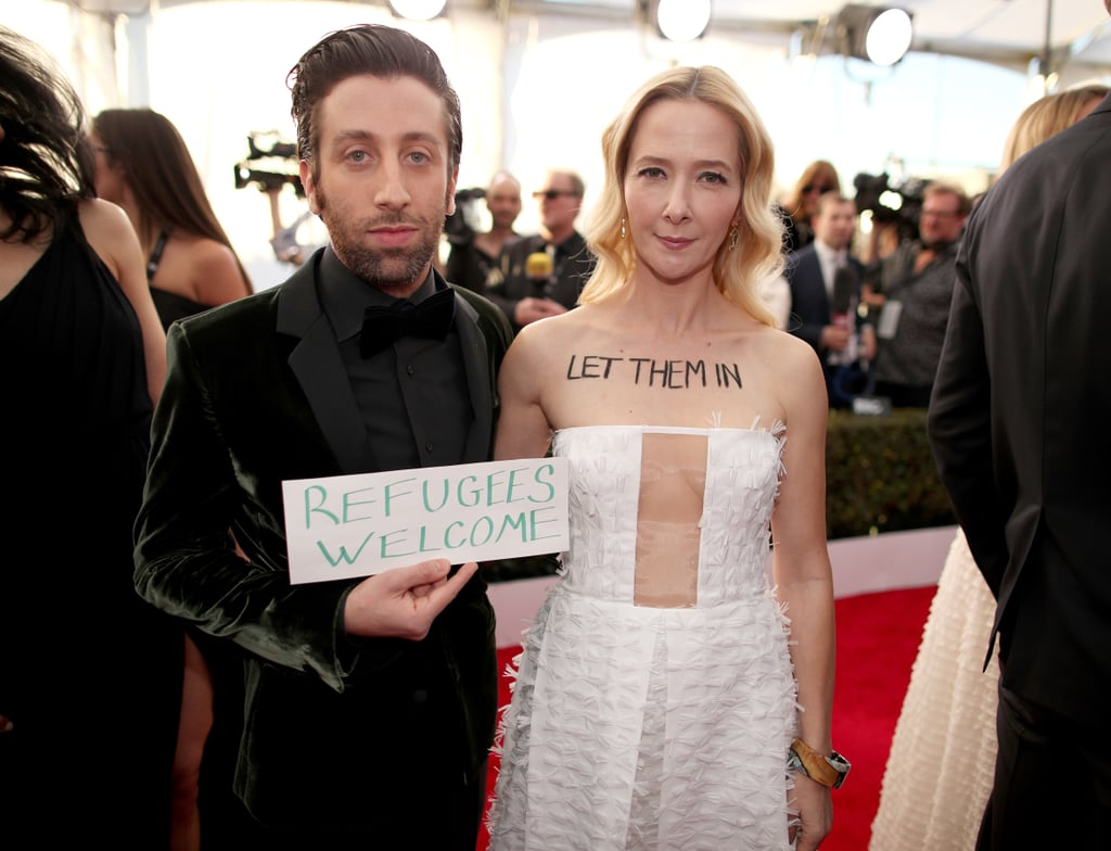 Pictured: Simon Helberg and Jocelyn Towne