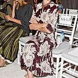 Anna Wintour prepared for the show at Marchesa.