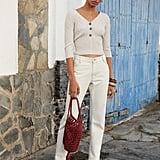 Mango Fringed Crochet Bag