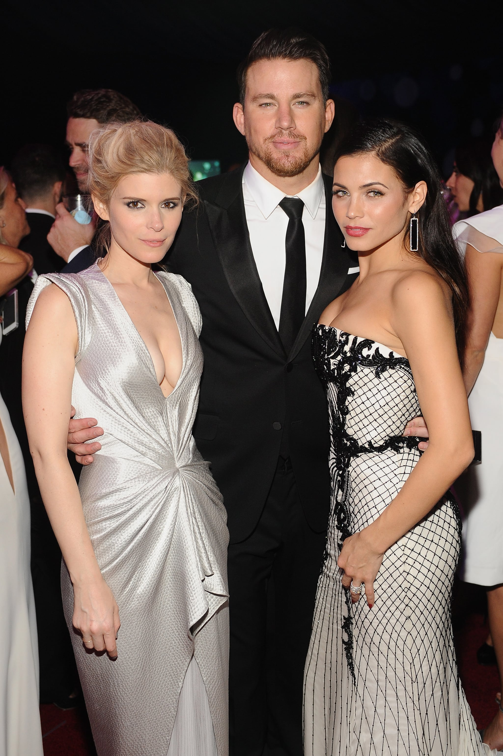 Channing Tatum and Jenna Dewan met up with Kate Mara inside the Warner Bros. bash.