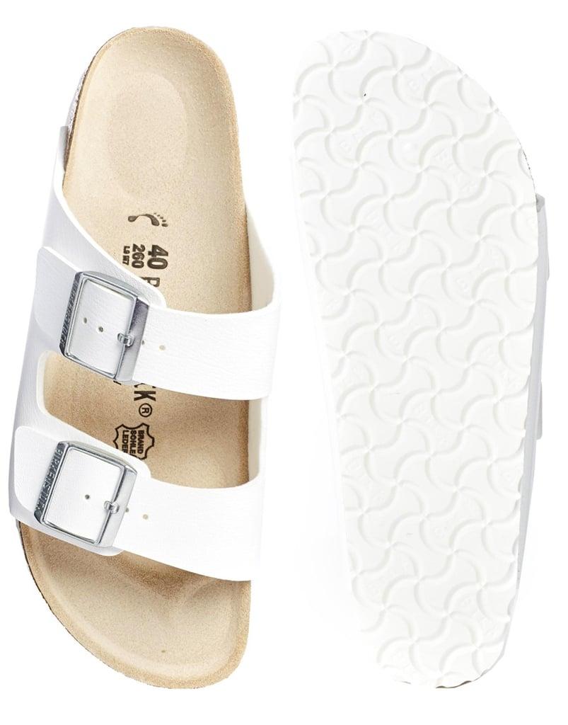 c4d8aecc04b6 Birkenstock Arizona white double-strap flat sandals ( 94)
