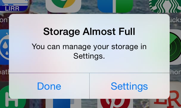 You will run out of phone storage every single day.