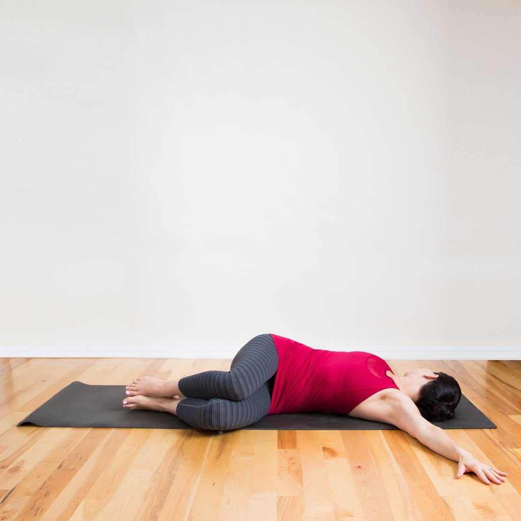 Lying Spinal Twist Before Bed Yoga Sequence Popsugar