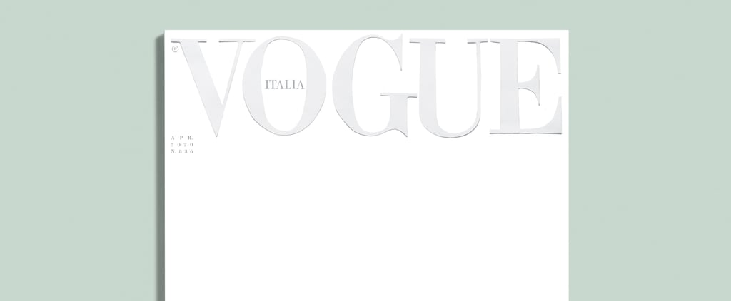 Why Is the Cover of Vogue Italia Blank For Its April Issue?