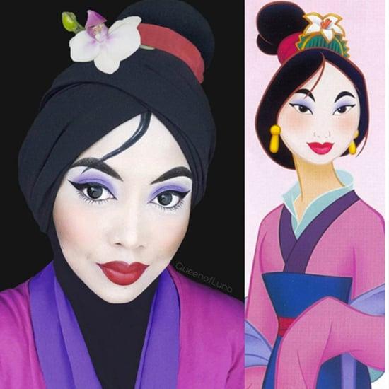 نجمة إنستغرام تستخدم الحجاب لتصور أميرات ديزني