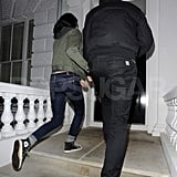 Robert Pattinson and Kristen Stewart walked home to their place in London.