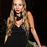 Harley Viera-Newton went for a simple black dress — all the easier to move around in for her DJing gig at the SoHo Grand's Black and White Masquerade Ball.