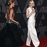 Jennifer Lawrence and Emma Stone at Governors Awards 2017