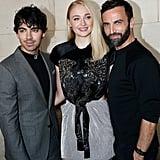 Pictured: Joe Jonas, Sophie Turner, and Nicolas Ghesquière