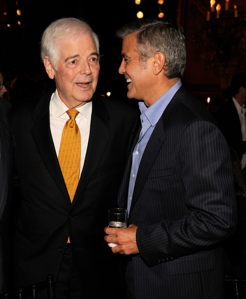 George Clooney chats with his dad Nick Clooney.