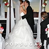 Kevin Federline gave his new wife, Victoria Prince, a kiss.