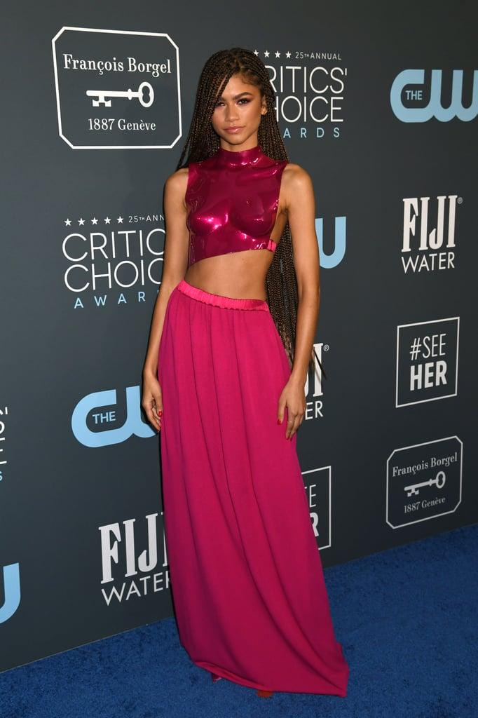 Zendaya at the 2020 Critics' Choice Awards