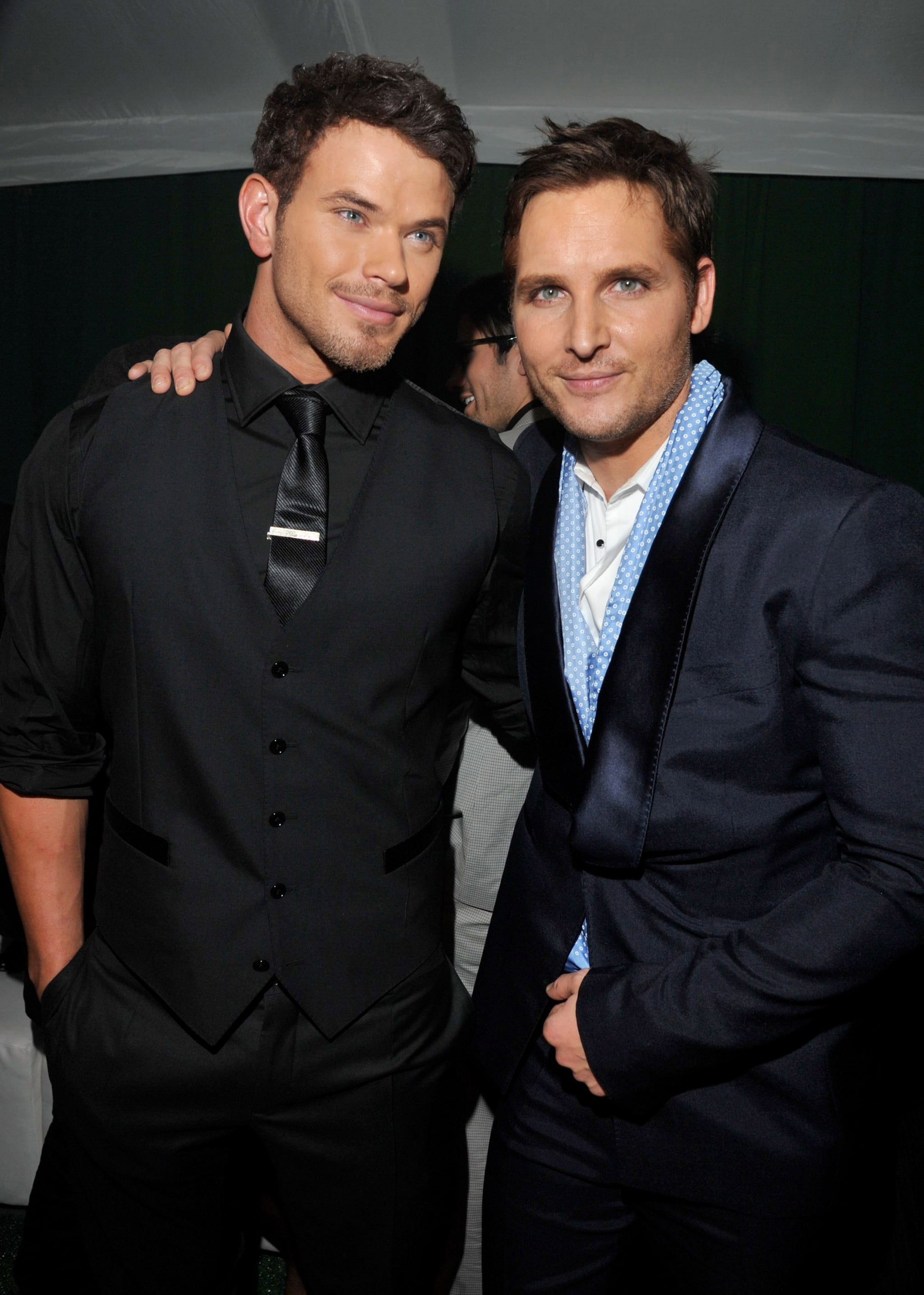 Kellan Lutz and Peter Facinelli took a Cullen family photo at the Breaking Dawn afterparty.