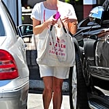 Reese Witherspoon had a canvas bag in hand as she left Brentwood Country Mart.