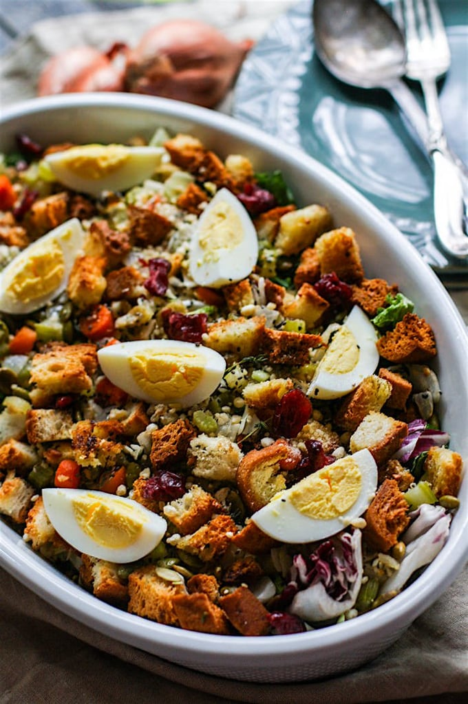 Gluten-Free Stuffing Salad With Warm Sweet Onion Dressing