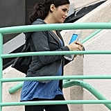Pregnant Jenna Dewan hit the gym for a workout in LA.