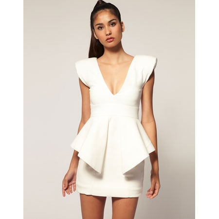 Claudia Structured Peplum Mini Dress