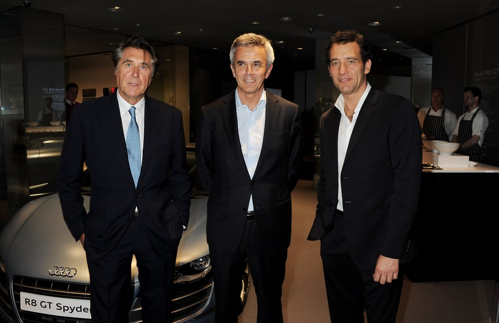 Bryan Ferry, Audi board member Peter Schwarzenbauer, and Clive Owen attended a party celebrating the global launch of Audi City.