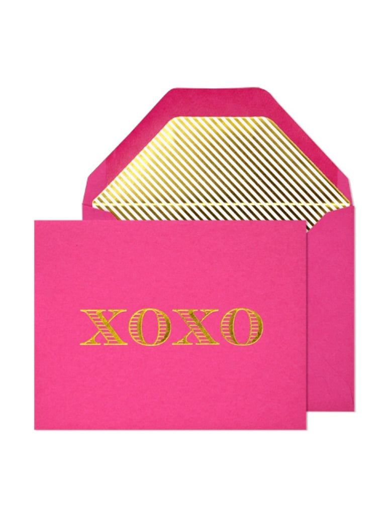 Show you care with a handwritten note on stylish XOXO Notecards ($26).
