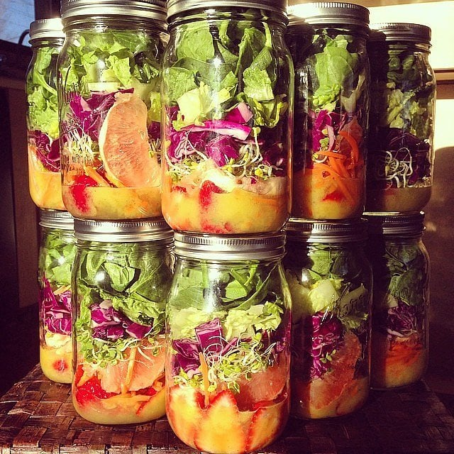 Strawberry-Carrot Mason Jar Salad