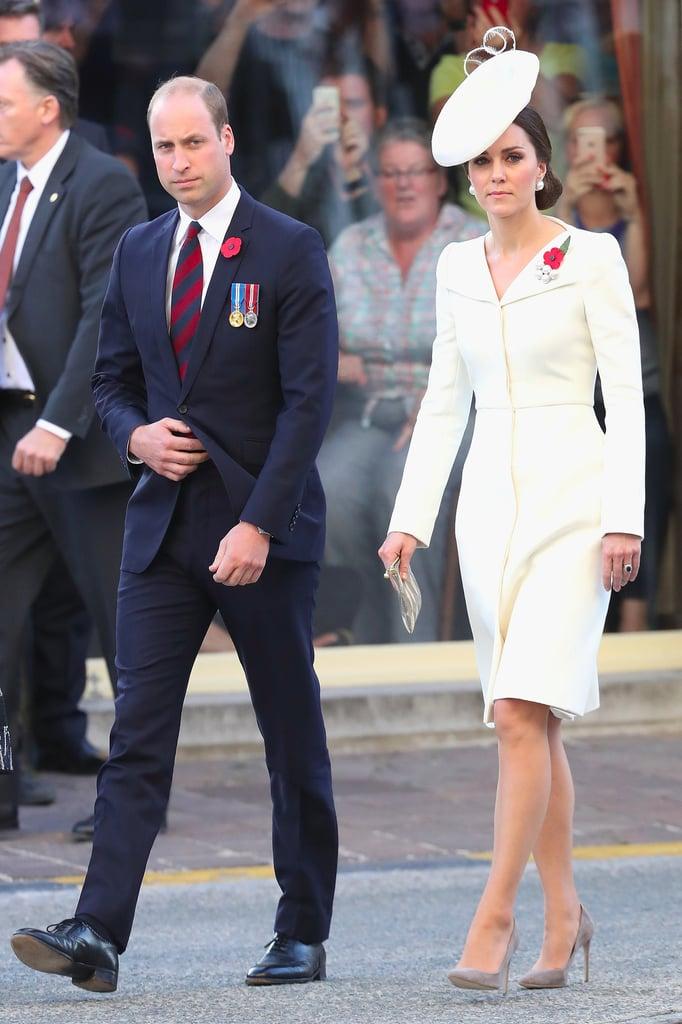 Kate Middleton Wearing Alexander McQueen Coat Dress
