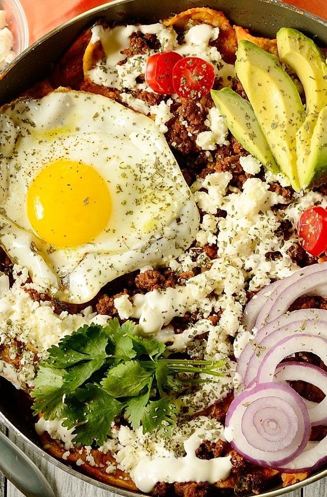 Beef Chilaquiles With Pumpkin Jalapeño Salsa