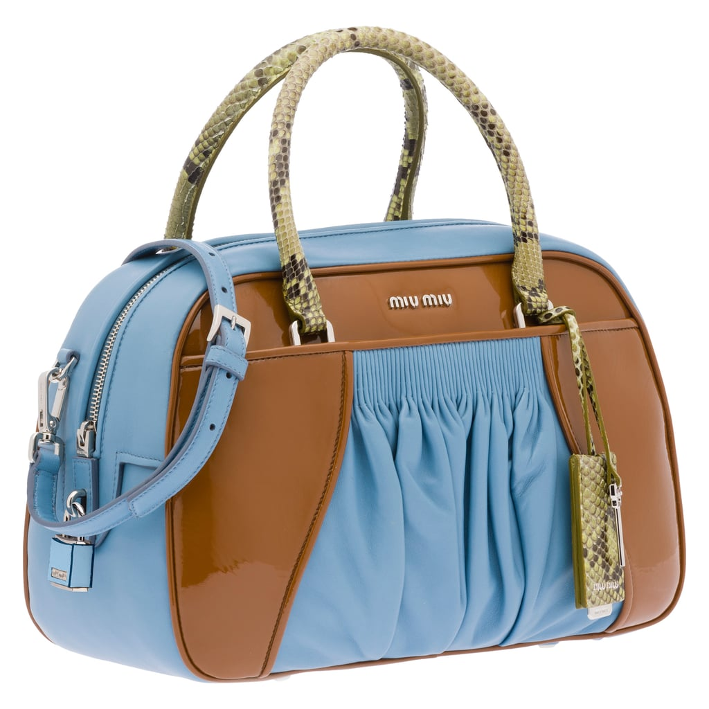 top handle tote - Blue Miu Miu WEYXY0B