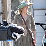 Kate Winslet got into character on the set of A Little Chaos.