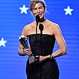 Renée Zellweger at the 2020 Critics' Choice Awards