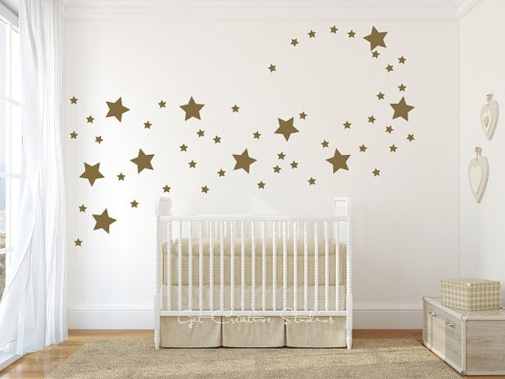 Gold Star Wall Decals