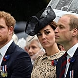 In early July, he traveled to France with Prince William and Kate Middleton to attend the centenary commemorations at the Thiepval Memorial to honor the 1916 Battle of the Somme.