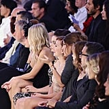 Scarlett sat in the front row of Dolce & Gabbana's Spring 2012 presentation.