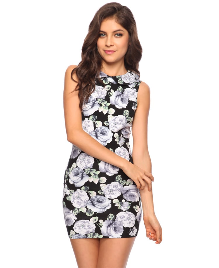 This pretty Peter Pan collared dress would work for the office or evening.  Forever 21 Floral Peter Pan Collar Dress ($11)