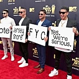 Vinny Guadagnino, Mike Sorrentino, Ronnie Ortiz-Magro, and DJ Pauly D