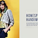 These are homespun crafts with a sophisticated finish, like laser cutouts in suede.  Shop the look