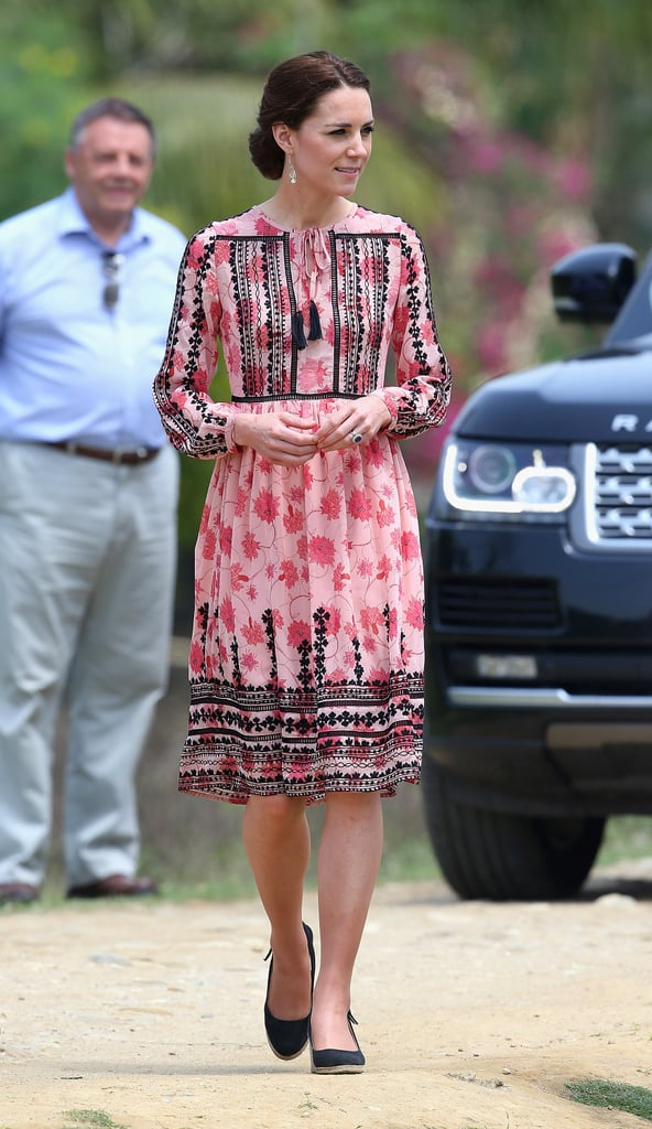 Duchess of Cambridge Wearing a Topshop Dress in India 2016