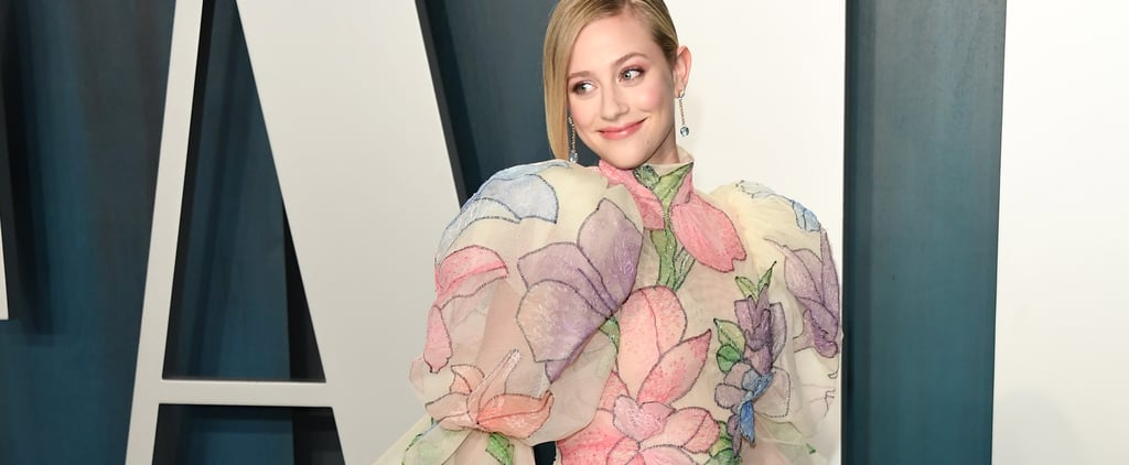 Lili Reinhart Floral Gown Vanity Fair Oscars Party 2020