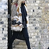 Kate Moss wore Isabel Marant in London.