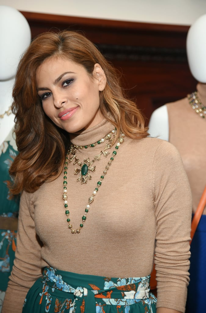 Eva Mendes Midlength Layers Latina Celebrity Haircuts For Spring