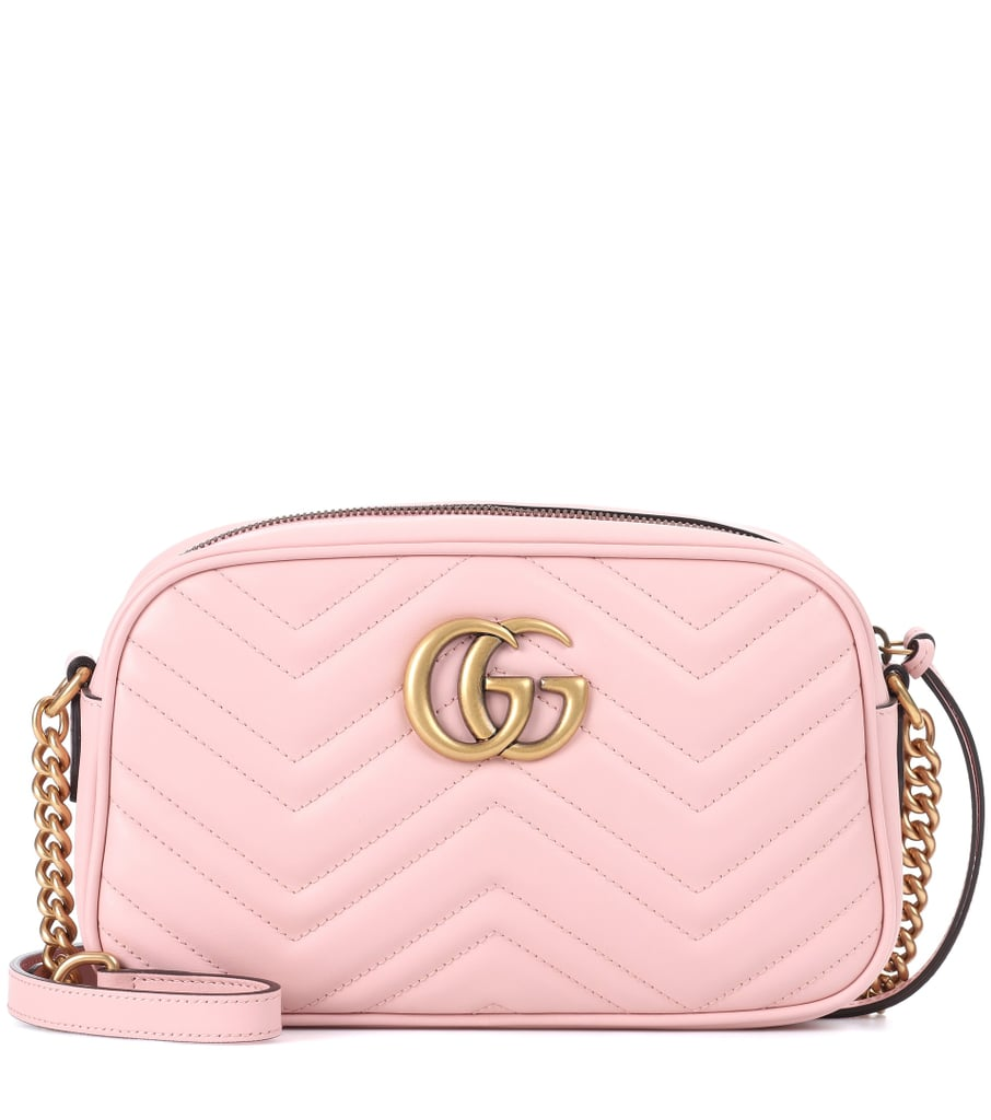 adbc49a37b11 Gucci GG Marmont Leather Crossbody Bag | Pink Products | POPSUGAR ...