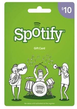 "Music is a universally awesome common denominator, so ""wrap"" it up nicely with a month-long (or whatever you decide) Spotify subscription. You can snag these cards at Target, or purchase them online. Next to-do: scout out all the best playlists from NYFW Spring '13 . . . they exist!"