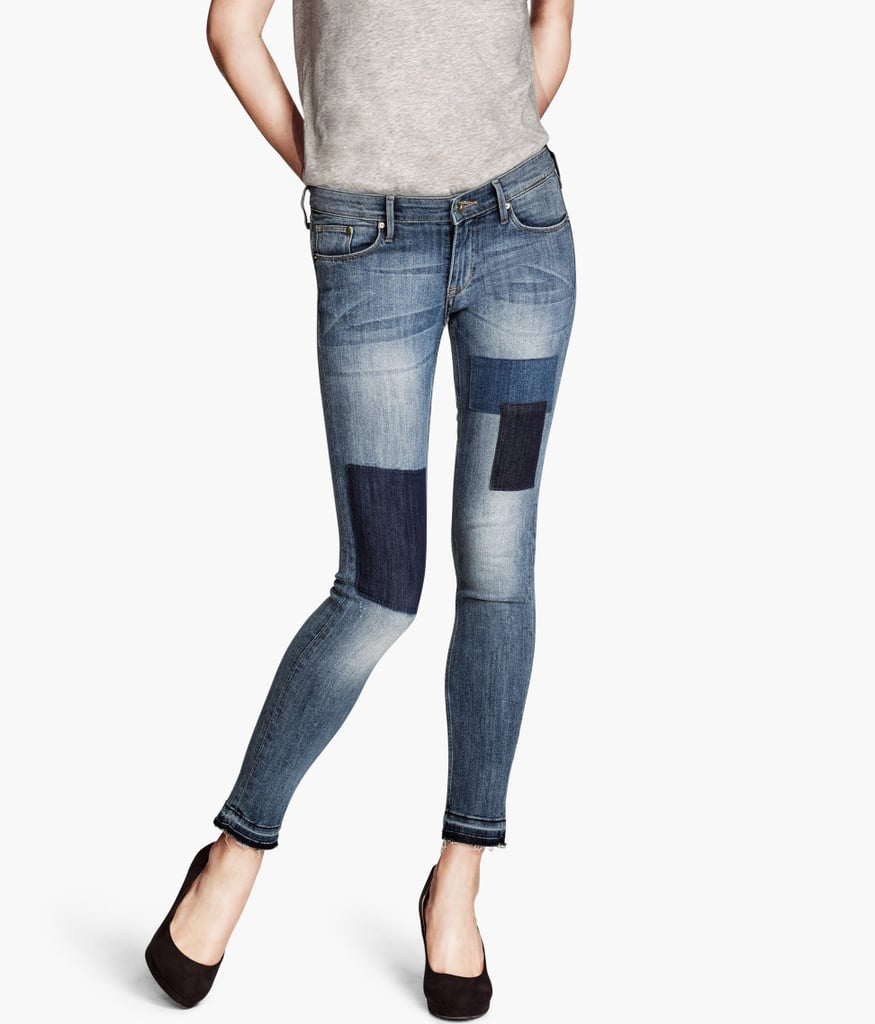 Embrace the season's patchwork trend with H&M's skinny low ankle jeans ($30).