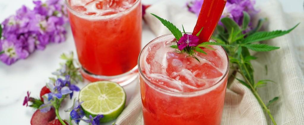 Raspberry Rhubarb CBD Spritz Recipe