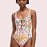 Floral Dots Reversible One-Piece