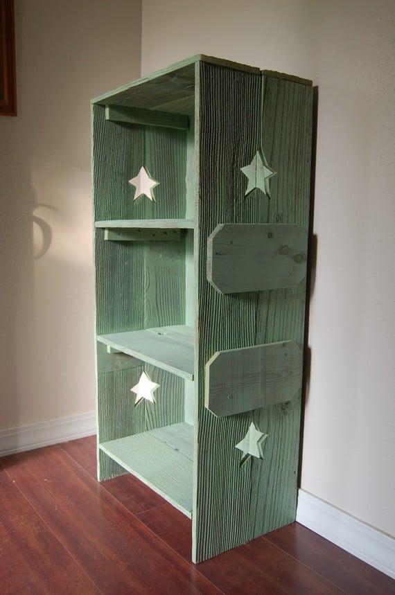 True Connection Rustic Wood Bookshelf