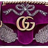 Gucci Marmont Embellished Velvet Shoulder Bag