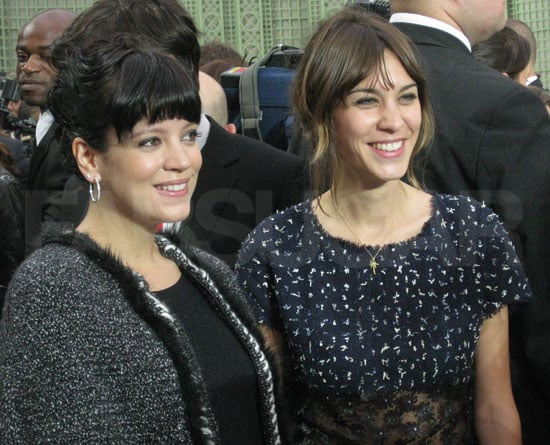 Lily Allen and Alexa Chung